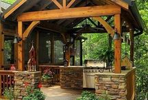 Outside decks, porches, patios