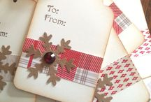 Christmas cards/tags