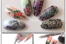 Stylograph designs / Verschillende designs nail art gemaakt door nagelstylistes met een kroontjes pen of stylograph
