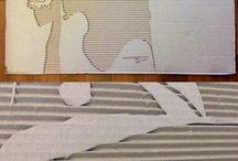 Вырезание портретов из картона