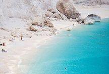 Beach... sea...