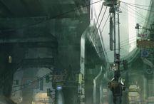 Art reference and inspiration - cyberpunk environment