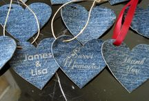 Denim & Lace and a Burlap face / Denim & Lace ideas burlap ideas too / by Kelly Sanders