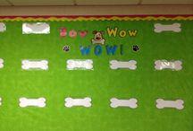 My kindergarten classroom (cat/dog theme) / Here are photos from my first classroom in kindergarten. / by Lisa Harvey