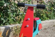 vespa balance bike. / Handmade homemade wooden vespa balance bike for kids yeared 1 to 3.