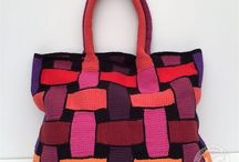 háčkované kabely tašky a vaky