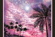 cartes palmiers