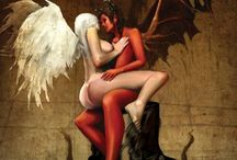 devil and angels