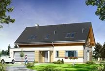 Projekty domów na płytką działkę / Znajdziecie tutaj Państwo dwa rodzaje projektów :  małe domy – pasujące z definicji niemal na każdą działkę , oraz większe domy  ,zaprojektowane tak , że mają one większą szerokość elewacji frontowej , niż głębokość elewacji bocznej . Nierzadko też projekty te mają wyjście na ogród i taras od strony elewacji bocznej , bowiem przy płytkiej działce ogródek wychodzi często z boku domu . / by MG Projekt | Projekty Domów