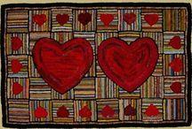 Hooked Rugs / Beautiful hooked rugs. Inspires creativity