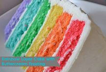 Celebrate: Rainbow Birthday Party / Looking to throw a rainbow birthday party? This collection of ideas will inspire you!