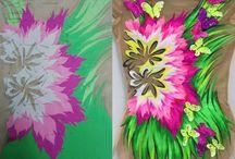 malované Trikoty