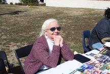 Spring Fling at Loris Middle School / My husband, Robert DeBurgh and I at the Spring Fling at Loris Elementary School in Loris, SC.  Sell them books!!!