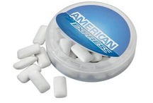 Promotional Breath freshener / Do you want to receive excellent response from your promotional items? Giving away boxes or tins of mints can do wonders for your business. Most people like mints so they are the safest choice to make from the range of promotional confectionery. Packaging them in a receptacle that can later be used for some other purpose provides effective branding and marketing opportunities.