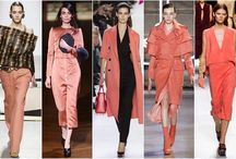 Fall-Winter 2014/2015 Colour Trends / What colours are hot this Fall and Winter? Coral, nude, mustard, grey, purple, burnt orange, yellow, red.