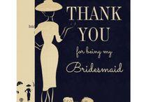 Card bridesmaid
