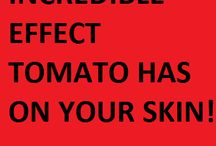 tomato on face skin