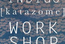 INDIGO / Our passion is indigo, having learned the craft in Japan, we tend to get inspiration from all over the world. As indigo is  a worldwide craft.