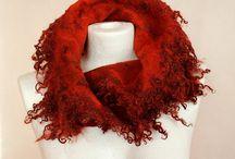 Pinned - felted shawls