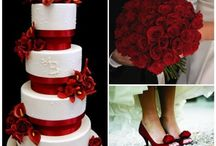 RED,White and grey WEDDING
