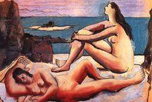 Pablo Picasso / Pablo Ruiz Picasso, né à Malaga, Espagne, le 25 octobre 1881 et mort le 8 avril 1973 à Mougins, France, est un peintre, dessinateur et sculpteur espagnol ayant passé l'essentiel de sa vie en France.