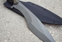 "machete and a knife ""kukri"""