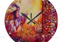 ARTISTIC WALL CLOCKS / Artistic wall clock designs by Bulgan Lumini (c)