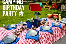 Camping Party for the Kids / Camping Party for Fun Kids Birthday Party