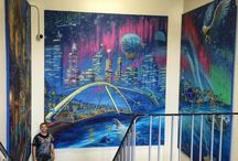 Artworks in Schools / Paintings created to inspire students