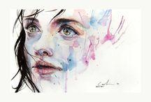 Watercolor hi portraits