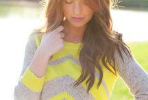 Yellow And Gray Shirt