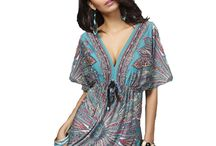 European Style Bohemian Print Summer Dress