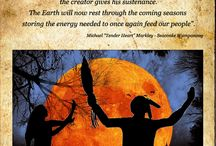 Native American Prayers for Thanksgiving / Wampanoag and other tribal prayers and blessing for Thanksgiving from the Many Hoops Around Thanksgiving website at http://www.manyhoops.com
