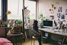 Inspiring studios and workrooms / Artistic spaces and creative places