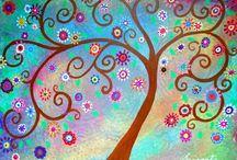 Swirly Tree Art