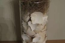 vaas met vogeltje