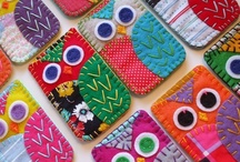 Felt, yoyos, embroidery, pillows