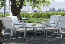 Cochran Group / Cochran is simply elegant outdoor furniture designed by award-winning landscape architect Andrea Cochran. The line includes a lounge chair, side chair with arms and low table created to enhance outdoor experience. Its clean modern design is, like Cochran's landscape architecture, timeless. #landscapeforms #sitefurniture #design   / by Landscape Forms