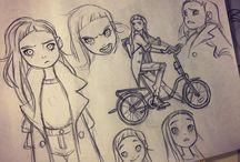 cartoony sketches