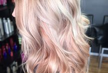 Soft pink blonde hair colour