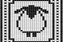 monochrome charts / monochrome charts for knitting, filet crochet and cross stitch