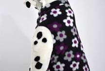 Large Fleece Dog Coats / A warm fleece coat for your Small dog or puppy!