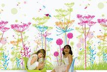Murals & Focal Walls / Murals, Focal walls, Painted walls, decals, wallpaper