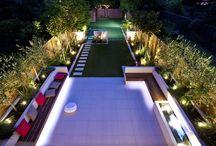 long thin gardens