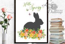 SPRING EASTER DECOR / SPRING DECOR, Spring print, spring wall art, easter decor, easter print, spring picture