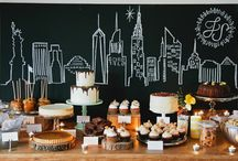New York Party / married in new York, so perfect party theme for home