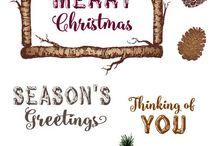 Joy Clair - Rustic Christmas Sentiments