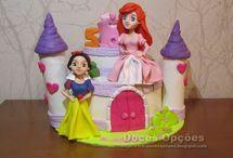 Bolo castelo princesas Disney