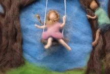WALDORF NEEDLEFELT WOOL PAINTING / by virginia linares ferrer