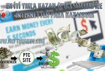 İnternetten para kazanmak, Ekgelir, En iyi Tıkla Kazan (PTC) Siteleri / Bu yazımda günde 2-3 saatinizi ayırarak aşağı-yukarı ortalama 10$, ayda 300$=700TL gibi bir kazanç elde edebilceğiniz en iyi ve en çok kazandıran tıkla kazan (PTC) sitelerini sizlerle paylaşacağım. Ücretsiz hesabınızı ilerde premium olarak değiştirebilir, kazancınızı ikiye katlayabilirsiniz. Ayrıca bu sitelere referans (referral), yani yeni üye getirirseniz, extra bundanda kazancınız olur.